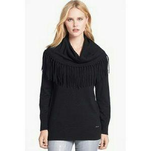 💕final💕 MICHAEL KORS fringe cowl neck sweater